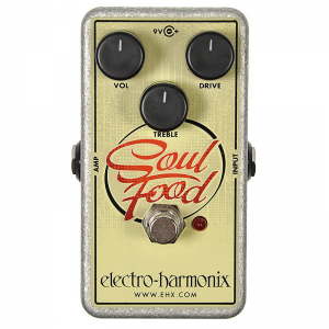 Electro-Harmonix Soul Food overdrive and booster pedal
