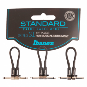Ibanez SI05P3 6,35 mm angled Jack - Jack patch cabel (3pc)