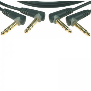 Klotz 6,3 mm stereo right-angled Jack - Jack cable (2pc.)