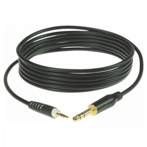 Klotz 3,5 mm stereo Jack - 6,3 mm stereo Jack cable