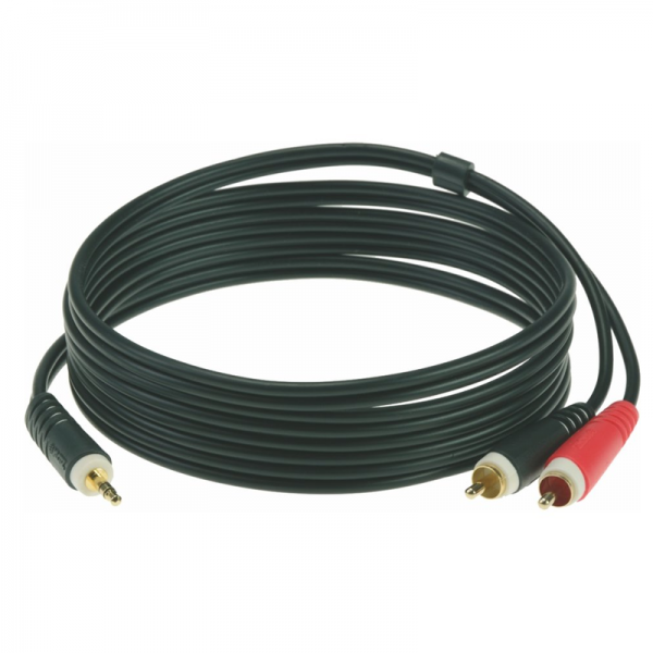 Klotz Y insert cable 2 x RCA - 3,5 mm TRS Jack