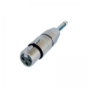 Neutrik NA2FP converter, 3-pin XLR female plug - mono 6,3 jack