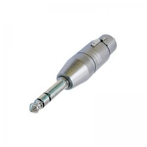 Neutrik NA3FP converter, 3-pin XLR female plug - stereo 6,3 jack