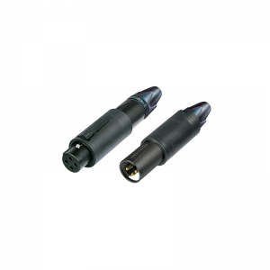 Neutrik NC3FMCB 3-pin XLR male-female combo connector