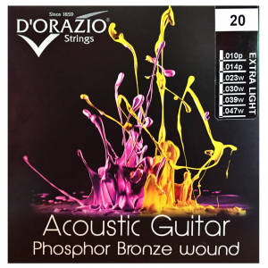 D'Orazio Phosphor-Bronze Acoustic Guitar Strings