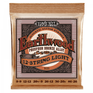 Ernie Ball 2153 12-string Phosphor Bronze Acoustic Guitar Strings