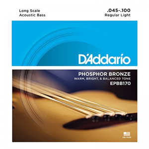 """D'addario EPBB 170 4-string Acoustic Bass Strings (34"""" Long Scale)"""