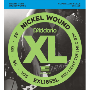 "D'addario 4-string XL Nickel Bass Strings (36"" Super Long Scale)"