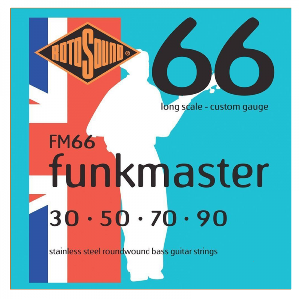 Rotosound FM66 Funk Master 4-string Steel Bass Guitar Strings
