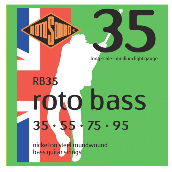 Rotosound RB Roto Bass 4-string Nickel Bass Guitar Strings