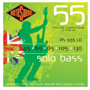 Rotosound RS555 Solo Bass 5-string Steel Bass Guitar Strings