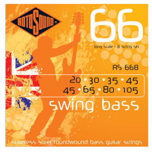 Rotosound RS668 Swing Bass 8-string Steel Bass Guitar Strings
