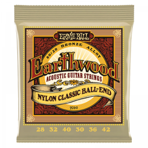 Ernie Ball 2069 Earthwood Bronze Nylon Classical Guitar Strings ( ball end)