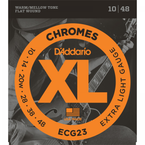 D'addario ECG XL Chromes Flat Wound Electric Guitar Strings