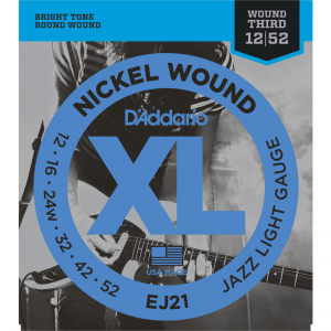 D'addario EJ XL Jazz Electric Guitar Strings (Wound G String)