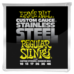 Ernie Ball Stainless Steel Electric Guitar Strings