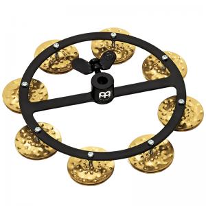 Headliner Series HTHH1B Hihat Tambourine, Hammered Brass Jingles