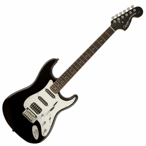 Squier Standard Stratocaster HSS RW Black and Chrome Electric Guitar