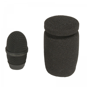 Audio-Technica AT8104a metal grille and foam windscreen