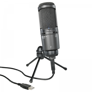 Audio-Technica AT2020USB+ condenser studio microphone, USB and headphone output