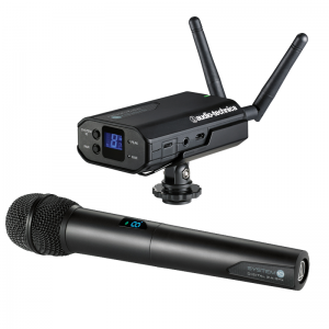 Audio-Technica ATW-1702 System 10 camera-mount wireless set w/ handheld transmitter