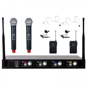 Hill Audio WMU-401 2H2B Wireless Microphone Set