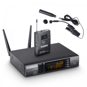 LD Systems WS 1G8 1.8GHz wireless lavalier instrument mic set