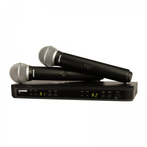 Shure BLX288E /PG58 Dual Channel Handheld Wireless System, PG58 Mic