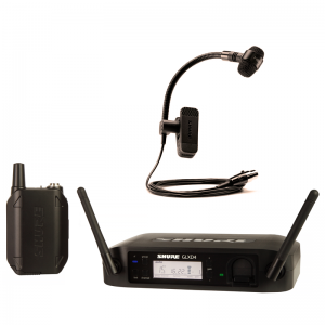 Shure GLXD14E /P98H Wireless Instrument Mic set w/ PGA 98H mic