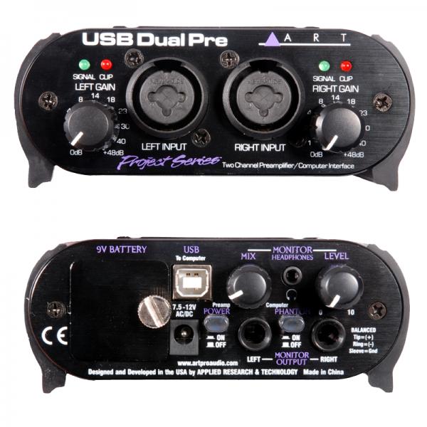 ART USB DualPre PS 2-channel USB preamp