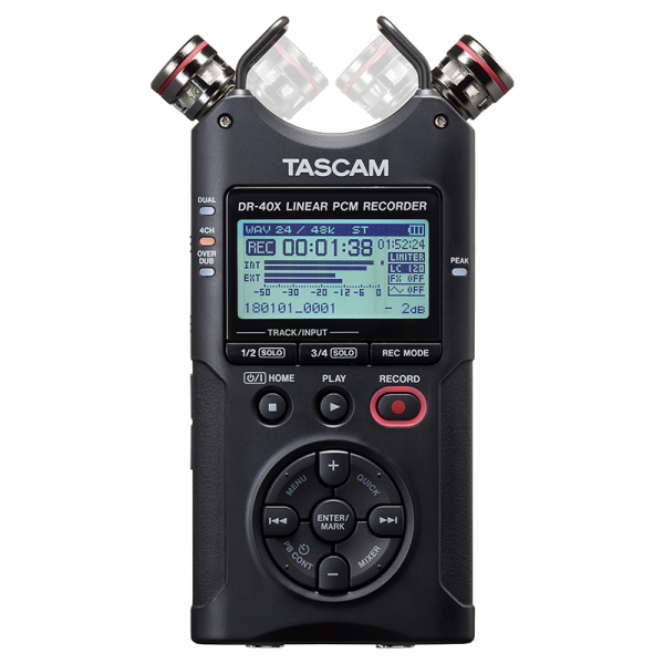 Tascam DR040X Stereo Handheld Digital Audio Recorder and USB Audio Interface